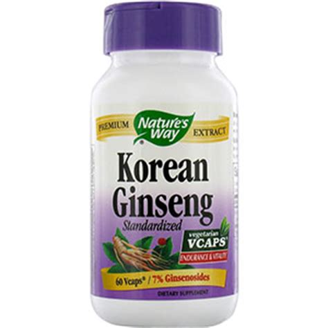 Korean Ginseng Nature S Health nature s way standardized korean ginseng 60 capsules