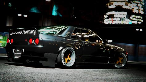template tuning nissan skyline gt r r32 rocket bunny tuning template