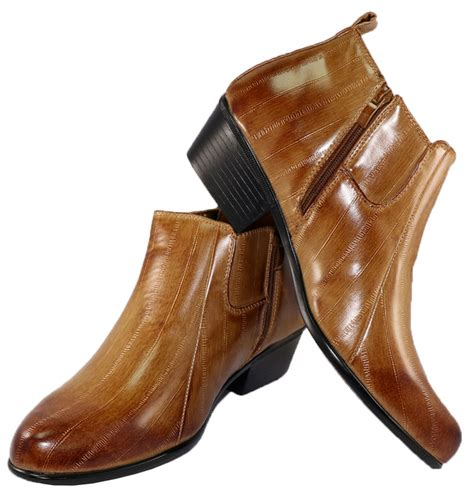 mens dress boots high heels new antonio cerrelli 5158 zippered cuban high heel