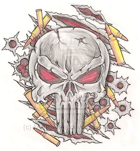 punisher skull tattoo designs punisher skull by metacharis on deviantart