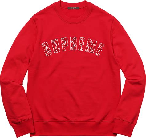 Supreme Lv Sweater supreme louis vuitton supreme arc logo crewneck