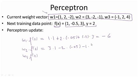 pattern classification using perceptron ppt perceptron update youtube
