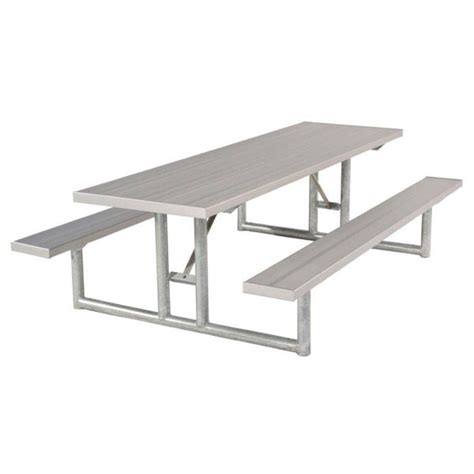 picnic table frames ship 6 foot rectangular aluminum picnic table with
