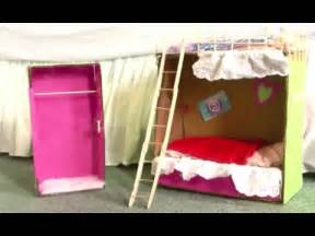 how to make an american bed how to make doll bunk beds