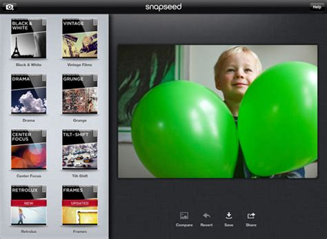 snapseed tutorial for ipad snapseed goes free gains new filters and google sharing