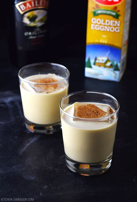 eggnog recipe eggnog holiday cocktail recipe kitchen swagger