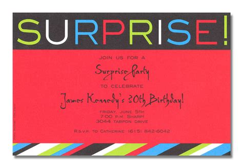 surprise birthday party invitation template surprise birthday