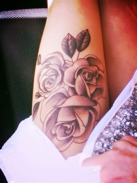 rose thigh tattoos tumblr tattoos for fitfru style