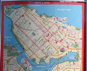 map of downtown vancouver canada vancouver seawall visit denman to canada place