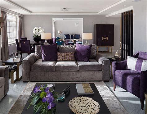 grey and purple living room gloucester square purple trends purpleand grey living room
