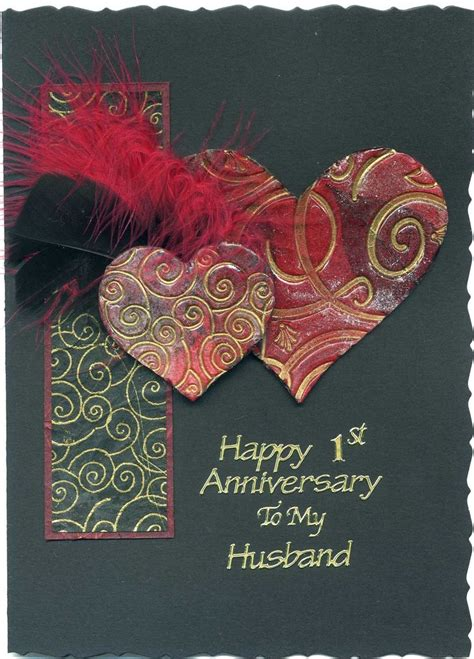 Handmade Cards For Husband - 25 best ideas about anniversary cards for husband on
