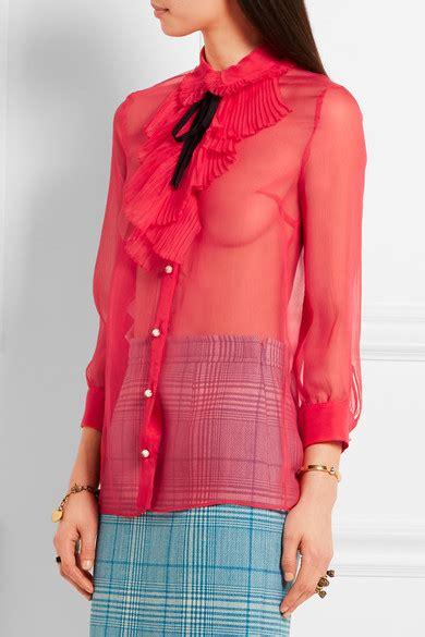 Ruffled Chiffon Blouses ruffled chiffon blouse blouse styles
