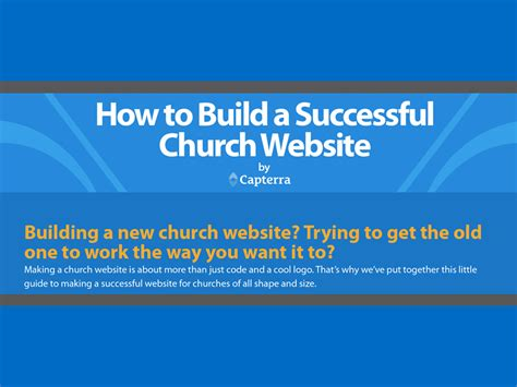 building the 12 characteristics of a fit church books how to build a successful church website infographic