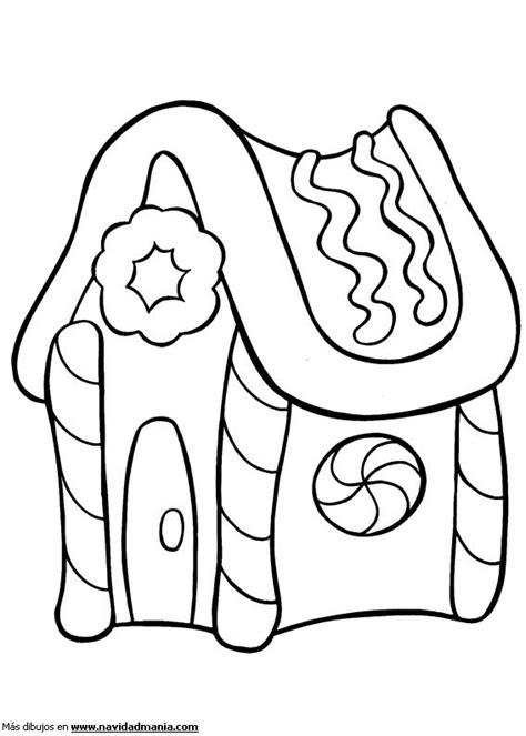 imagenes para dibujar la navidad dibujo de casita de chocolate para colorear de navidad