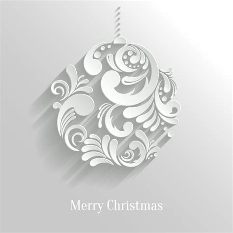 merry christmas ball vector free vector graphic download