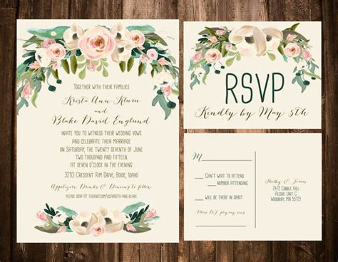 Garden Wedding Invitation Card Template by Best 25 Garden Wedding Invitations Ideas On