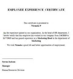 work experience certificate template doc 400514 work experience certificate template work
