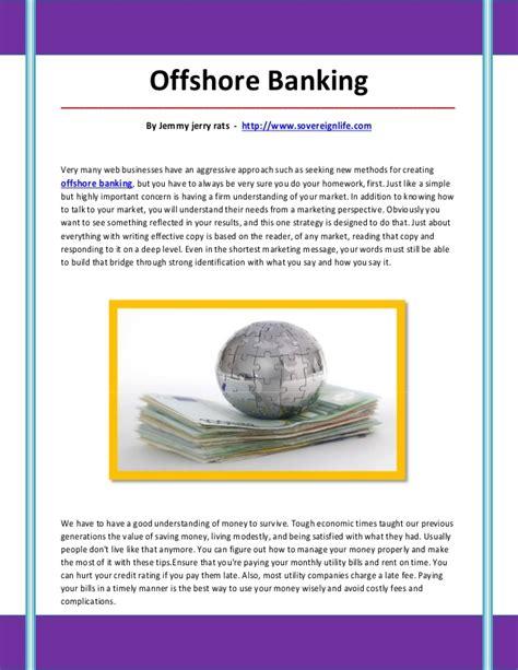 offshore banken offshore banking