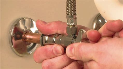 installing water shut off valve under how to install a brasscraft push connect valve youtube