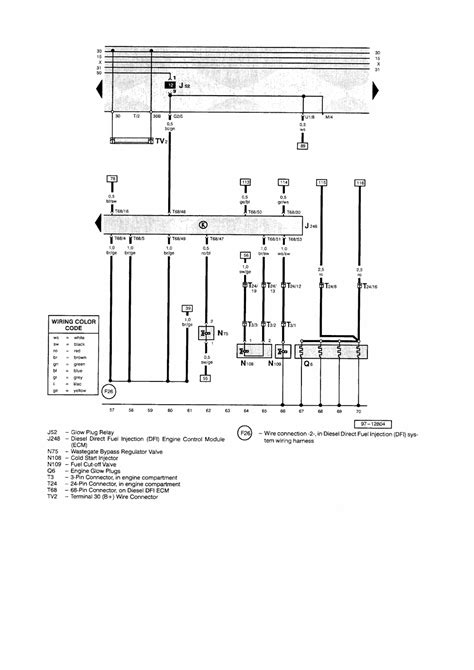 tdi glow wiring diagram tdi get free image about