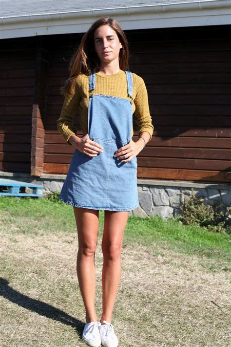 Would You Wear An All Denim Like On Project Runway Last by 17 Best Ideas About Overall Dress On Denim