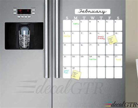 Fridge Calendar Fridge Calendar Refrigerator Erase Calendar Decal