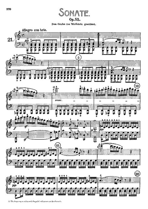 """Piano Sonata No. 21 """"Waldstein"""" Original version - Piano"""