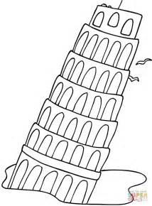dibujo la torre inclinada pisa colorear dibujos colorear imprimir gratis