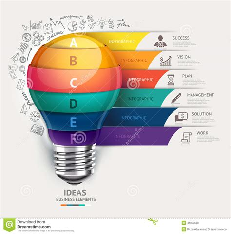 html design concepts business concept infographic template lightbulb and