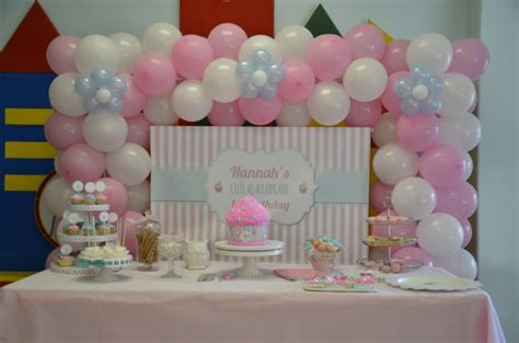 backdrop design birthday party cute as a cupcake 1st birthday party candy buffet little
