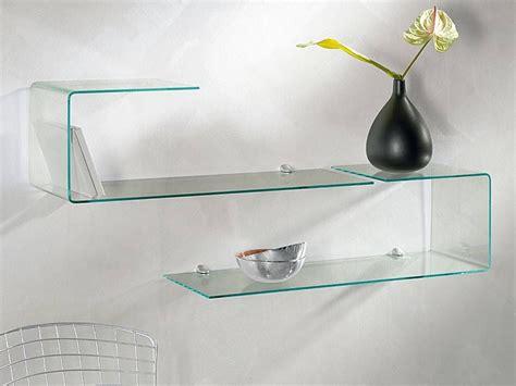 mensole per ingresso mensola consolle in vetro sagomata flexi