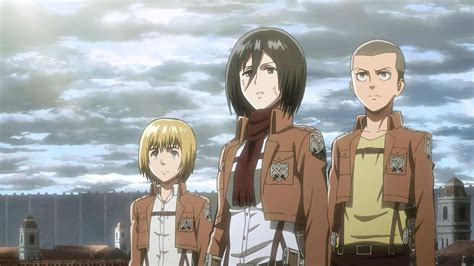 Kemeja Anime Attack On Titan Snk Army Green Shirt Sa Snk 20 G attack on titan s1e7 the tiniest of blades attack on