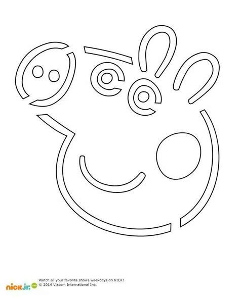 Pig Pumpkin Template peppa pig o lantern cutout