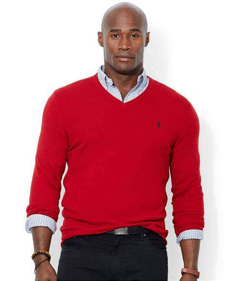 Sweater Polos lyst polo ralph big and merino wool v neck sweater in for