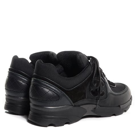 chanel sneakers black chanel suede calfskin cc black sneakers 38 5 78951