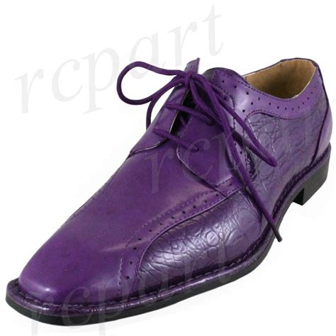 new s dress shoes fashion solid lace up style formal wedding purple ebay