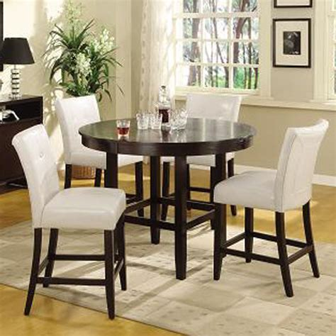 Counter Dining Room Sets | modus bossa 5 piece round counter height dining room set