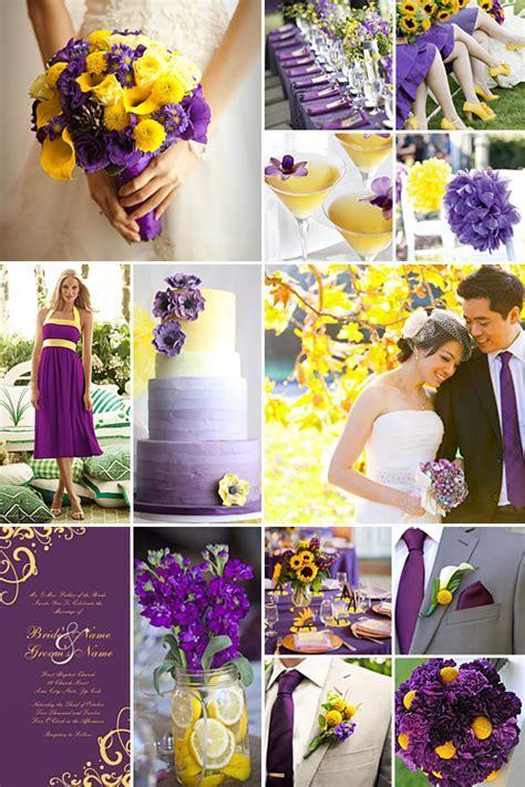 Purple and Yellow Inspiration   I just love weddings