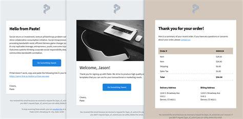 Sendgridのオープンソースメールテンプレート Paste について Sendgridブログ Sendgrid Transactional Email Templates