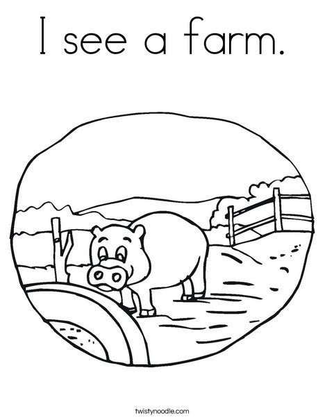 print this coloring page itll print full page i see a farm coloring page twisty noodle