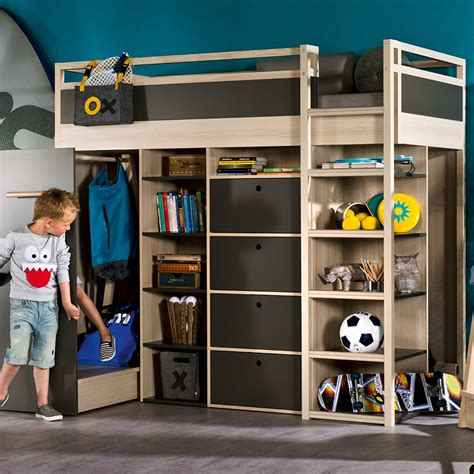Childrens High Sleeper by Spot High Sleeper Storage Bed In Acacia Graphite