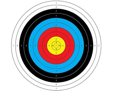 Kertas Silver 10lembar 10 pcs sasaran kertas 60 60 cm shooting bullseye target panahan lembar kertas di bow panah