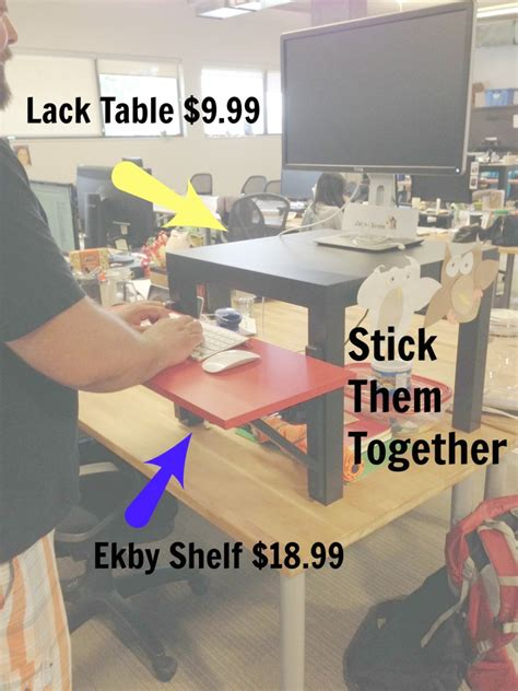 how to build a stand up desk the genius ikea hack hootsuite uses to build a stand up