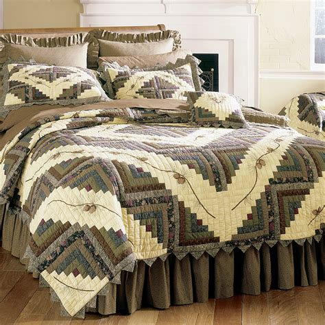 pinecone bedding barn raising pine cone quilt bedding by donna sharp
