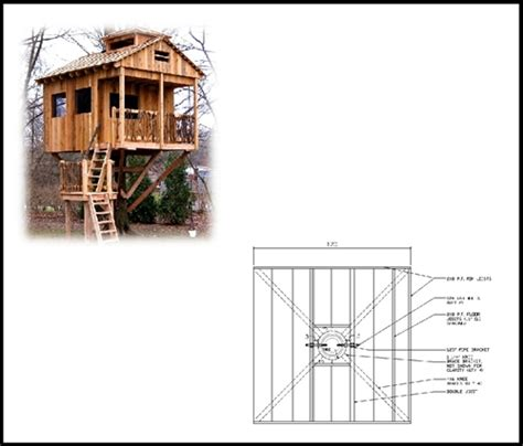 tree house floor plans 10 square treehouse plan standard treehouse plans