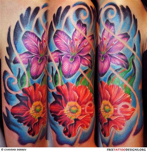 tropical flower tattoo flower gallery 70 flower designs
