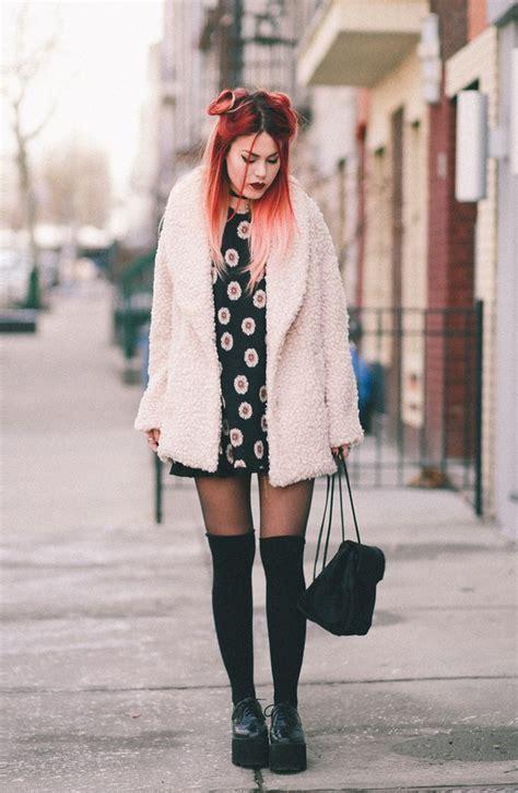 le happy le happy wearing willow clay coat and daisy dress luanna perez coats le happy