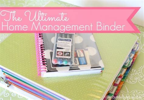home organization binder the ultimate home management binder setting it up from