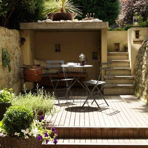 Small Garden Ideas Uk Small Decked Garden Dining Area Small Garden Design Ideas Housetohome Co Uk