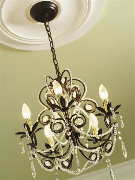 Medallion For Chandelier How To Install A Decorative Ceiling Medallion Hgtv